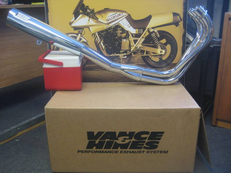 vance hines chrome street exhaust