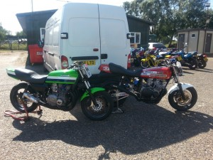 our gs1000 and kwak 1170 racebikes